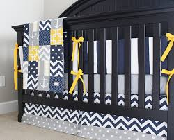 Grey And Yellow Crib Bedding Items Similar To Yellow And Blue Crib Bedding Grey Nautical