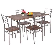dining room farmhouse table with metal chairs folding dining