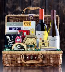 Wine And Cheese Gift Basket Wine And Cheese Deluxe Red And White Wine Gift Basket