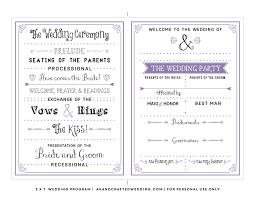 simple wedding programs templates wedding uncategorized program weddingplate ceremony free