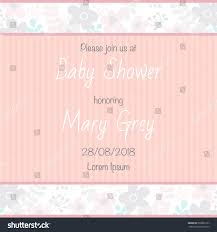 Babyshower Invitation Card Baby Shower Invitation Card Pastel Colors Stock Vector 668855107