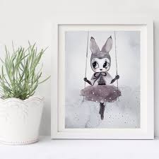 rabbit prints poster and prints nordic decoration nursery wall canvas