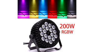 200w rgbw 18x led dj par can dmx stage light rainbow bar
