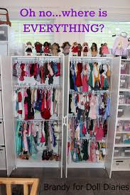 18 inch doll storage cabinet closet dividers for your dolls doll diaries