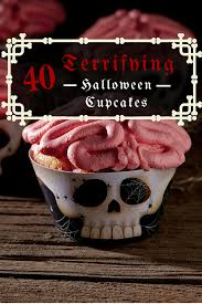 Halloween Cupcakes by 40 Terrifying Halloween Cupcakes