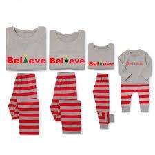 believe comfy family striped pajamas