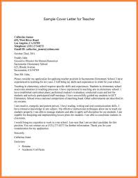 Cover Letter Document Application Letter For Job Of Teacher