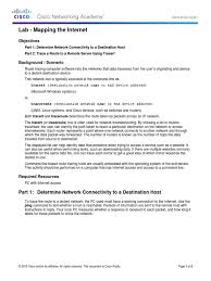 Route Map Cisco by 4 1 1 9 Lab Mapping The Internet Pdf Router Computing