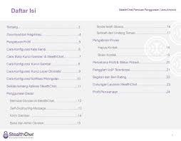 daftar isi stealthchat panduan penggunaan versi android daftar isi 2