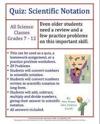 scientific notation coloring worksheet education math