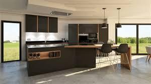 cuisine ilot central amazing plan cuisine avec ilot central 9 r233alisation de cuisine