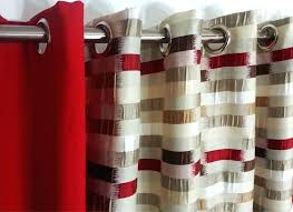 Eyelet Shower Curtains White Red And Beige Curtains Jitterbug Red Beige Fire Resistant Curtains