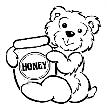 honey bear hug honey pot coloring pages coloring sky