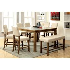 stone top dining room table furniture of america kincade 9 piece counter height dining table