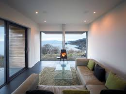 modern fireplace living room contemporary home on the isle of