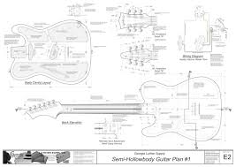 hollowbody electric guitar plans 1 electronic version u002769 tele