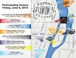 Aurora Map First Fridays Is June 6 Aurora Downtown