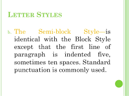 Semi Block Letter Format Business Letter Business Letters
