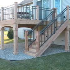 horizontal deck railing pool beach with cedar horizontal deck