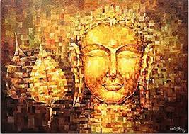 Tibetan Home Decor Ppd Lord Buddha Canvas Paintings The Golden Buddha Buddhism