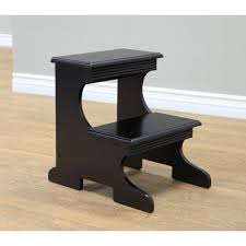 homecraft furniture home craft black step stool ss51 bk the home