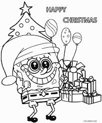 bunch ideas christmas spongebob coloring pages