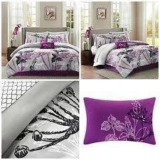 Purple Floral Comforter Set Girls Full Size Comforter Set Purple Butterfly Floral Kids Bedding