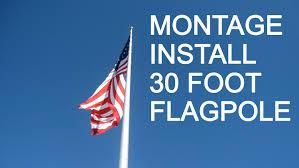 How To Hoist A Flag Flagdesk Com Diy Installing A 30 Foot Flagpole Find Tips Here