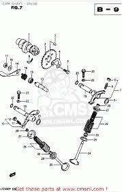 suzuki lt230e 1987 h cam shaft valve schematic partsfiche
