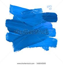 brush stroke blue vector illustration background stock vector