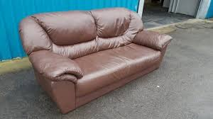 Leather Sofas Cannock Leather Sofa West Midlands Second Household Furniture Buy
