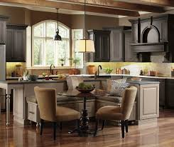 casual kitchen with large kitchen island omega
