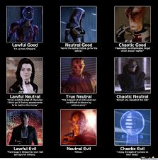 Mass Effect Meme - mass effect 2 good neutral and evil by welcometomars meme center