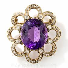 amethyst diamond engagement ring large antique amethyst and diamond brooch french