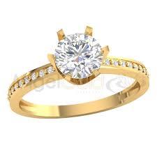 pierscionek zareczynowy złoty pierścionek zaręczynowy pr 585 angel gold