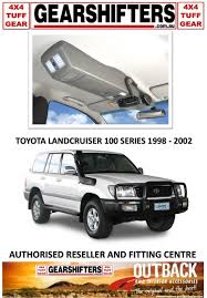 outback accessories roof console 4x4 toyota landcruiser 100 series