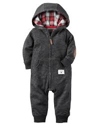 hooded french terry jumpsuit front design hoods and plaid