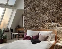 papier peint trompe l oeil pour chambre decoration papier peint trompe loeil pierres chambre a coucher