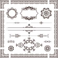 ornament borders elements 19 ai format free vector
