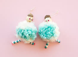hello wonderful diy arctic pom pom doll ornaments