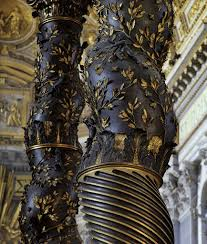 baldacchino by bernini detail of bernini s twisted column from the baldacchino