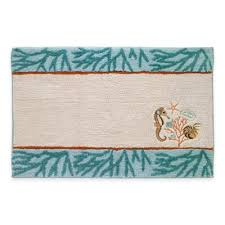 Aqua Bathroom Rugs Buy Coral Bath Rug From Bed Bath Beyond