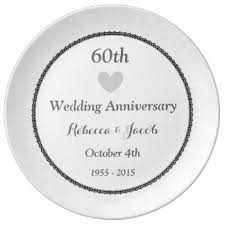 60th wedding anniversary plate custom wedding anniversary decorative plates uk