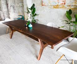 Slab Dining Room Table by The April Walnut Live Edge Dining Table Copper Slab