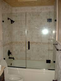 Bathroom Shower Doors Ideas by Bathroom Terrific Alcove Bathtub With Glass Doors 41 Framed