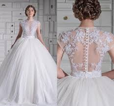 wedding dresses gowns sparkly 2015 lace wedding dresses gown crew capped 6
