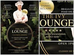 the ivy lounge restaurant flyer template flyerheroes
