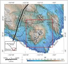 Texas Mexico Border Map by Aeromagnetic Mapping Of The Structure Of Pine Canyon Caldera And