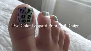 spring summer leopard toe nail design tutorial youtube