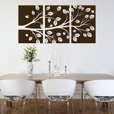 tree branch 3 panel wall decals